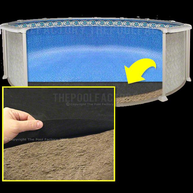 18/' ROUND Armor Shield Aboveground Swimming Pool Liner Pad-Black