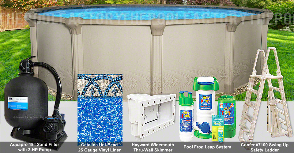 18 39 x54 quest round pool package swimming pool kit for Pool packages