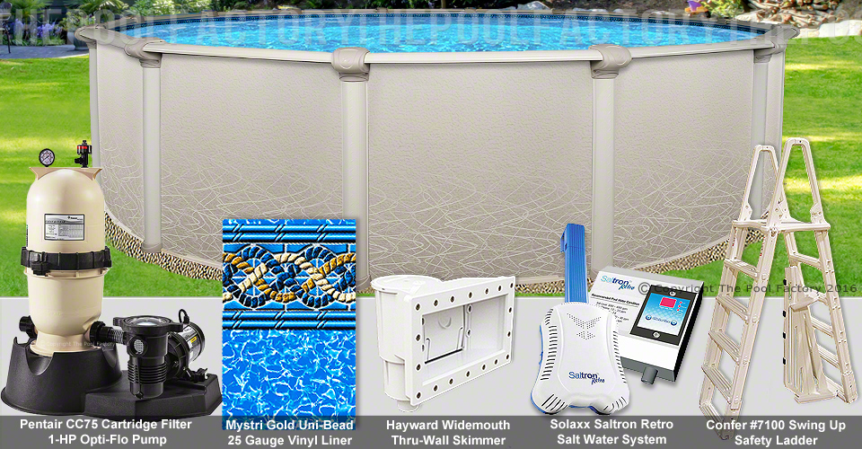 15 39 x52 saltwater 5000 round pool package for Pool packages