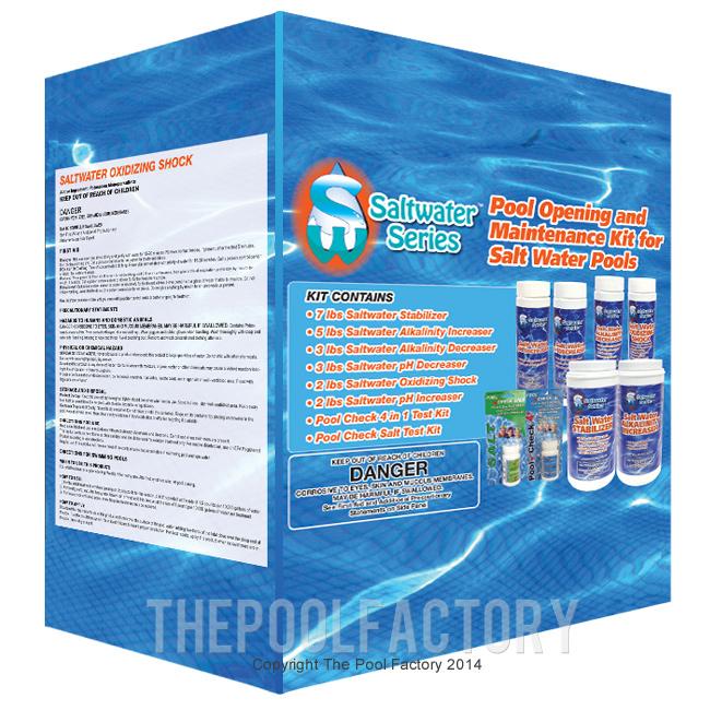 Saltwater Pool Chemical Kit Pool Opening Maintenance Kit