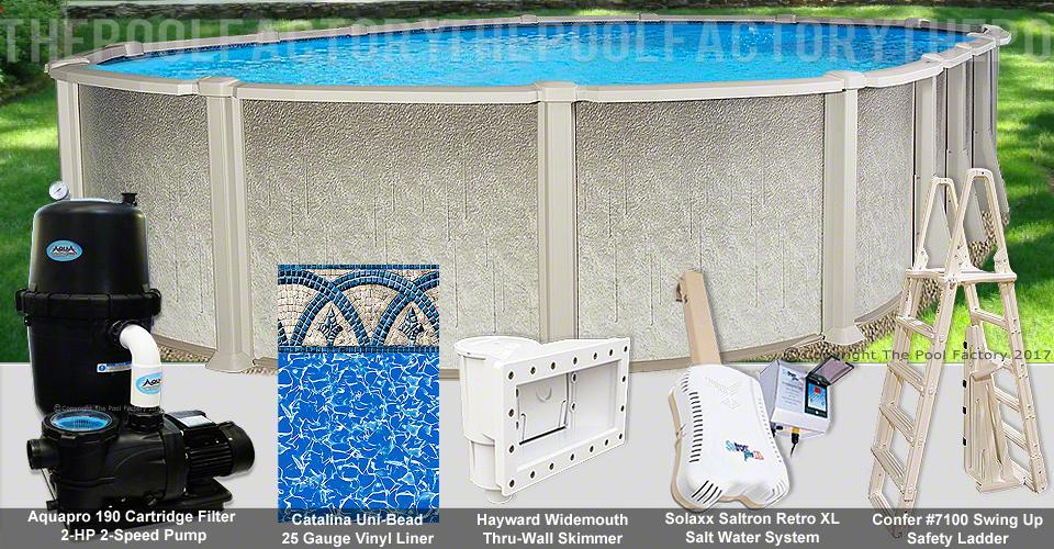21 39 X43 39 X54 Saltwater 8000 Oval Pool Package Swimming Pool Kit