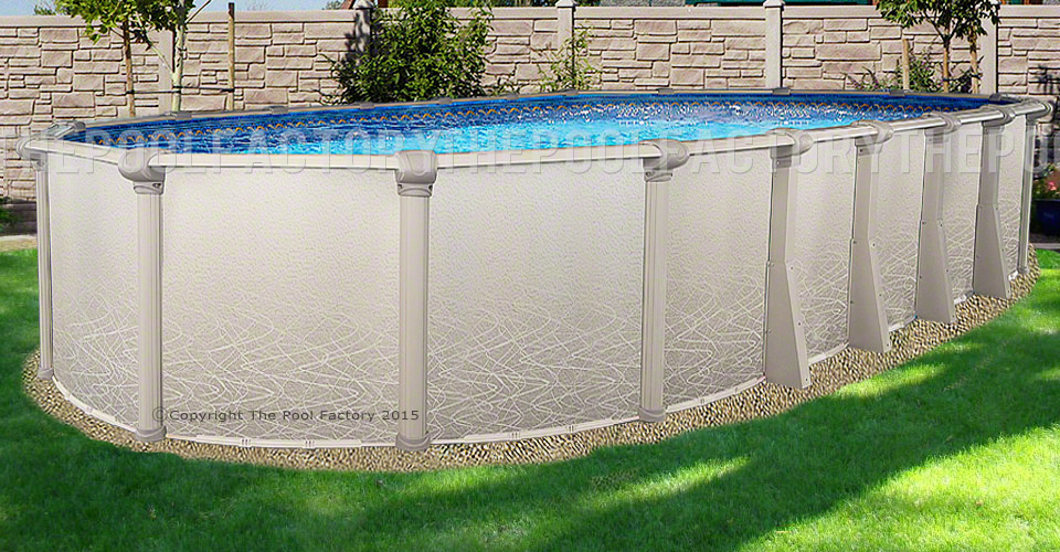 "12'x24'x52"" Saltwater 5000 Oval Pool"